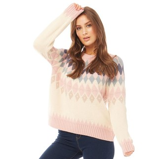 Only Womens Arielle Long Sleeve Knit Jumper Rose Smoke