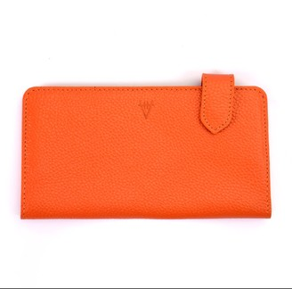 Hiva Atelier Fluctus Leather Wallet Orange