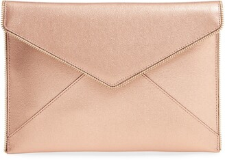 Rebecca Minkoff Leo Metallic Leather Envelope Clutch