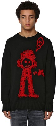 Marcelo Burlon County of Milan Crewneck Wool Jacquard Knit Sweater