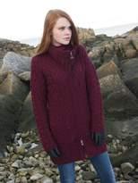 100% Merino Wool Aran Crafts Ladies Double Collar Coat
