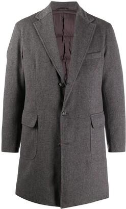 Barba Notch-Lapel Single-Breasted Coat