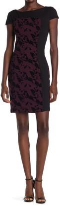 Carmen Carmen Marc Valvo Cap Sleeve Colorblock Sheath Dress