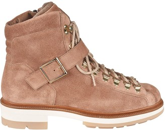 Santoni Front Strap Laced-up Boots