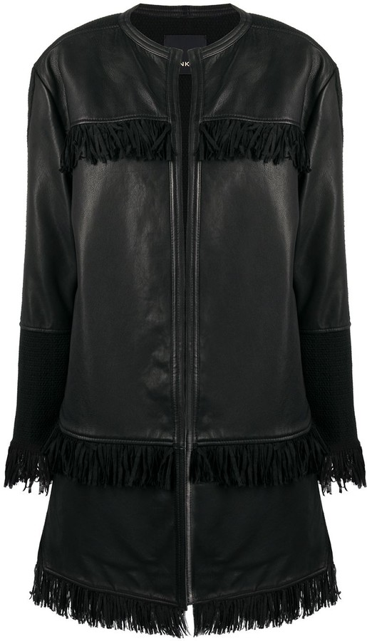 Pinko Fringe Detail Coat