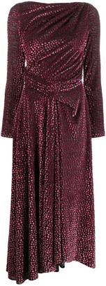 Talbot Runhof mosaic velvet dress