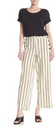ECI Striped Linen Blend Pants