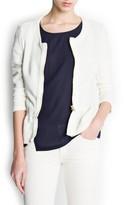 MANGO Lurex peplum jacket