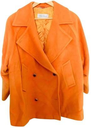 Max Mara Orange Wool Coat for Women