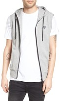 Antony Morato Men's Hooded Fleece Zip Vest