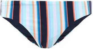 Jets Striped Mid-rise Bikini Briefs