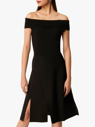 French Connection Odelia Tobey Bardot Dress, Black