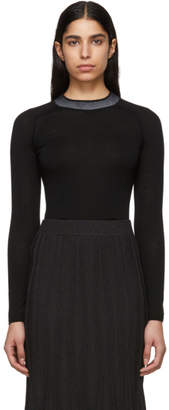 Rag & Bone Black Merino Wool Pamela Sweater
