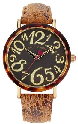 Betsey Johnson Sleek Slithering Watch (Gold) Watches