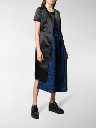 Comme des Garcons Asymmetric Contrasting Panel Dress