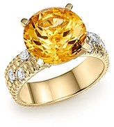 Bloomingdale's Citrine Statement Ring with Diamonds in 14K Yellow Gold - 100% Exclusive