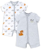 Little Me Boys' Tiger Rompers, 2 Pack - Baby