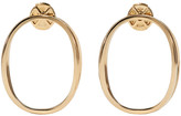 Delfina Delettrez Gold Little Ear-Clipse Earrings
