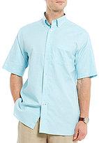 Daniel Cremieux Signature Solid Heather Short-Sleeve Woven Shirt