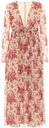 RED Valentino Floral crApe dress