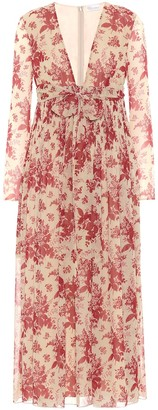 RED Valentino Floral crepe dress