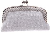 Ainemay Diamond metal frame Ladies Rhinestone Clutches Evening Bag