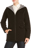 Laundry by Design Hooded Quilted Zip Front Jacket
