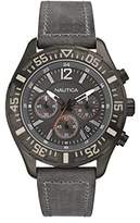 Nautica Gents Watch Chronograph XL Leather A18720G Quartz