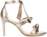 Alexandre Birman metallic (Grey) bow strap sandals
