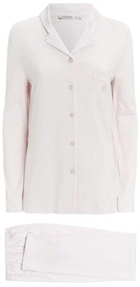 Louis Feraud Long Button-Down Pyjama Set