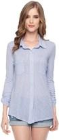 Splendid Slub Jersey Button Down Shirt