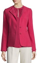 Max Mara Salice Collarless Two-Button Jacket, Fuchsia