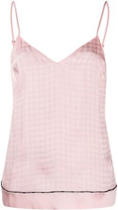 Balmain Geometric Pattern Silk Camisole