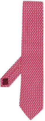 Salvatore Ferragamo Dog-Print Pointed Tie