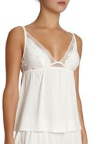 Eberjey Noor Lace Jersey Camisole, Ivory