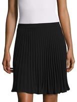 Nicole Miller Pleated Crepe Mini Skirt
