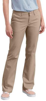 Dickies Women's Slim Fit Boot Cut Stretch Twill Pants
