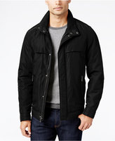 Perry Ellis Big and Tall Oxford Zip-Front Jacket