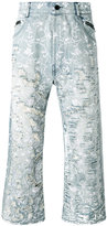 Unconditional floral distressed jeans