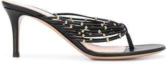 Gianvito Rossi Beaded Detail Stiletto Heel Sandals