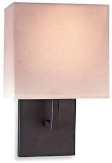 George Kovacs Linen Wall Sconce with a Bronze Finish