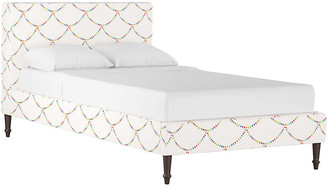Gray Malin X Cloth & Company Bunting Scallop Platform Bed - White - twin