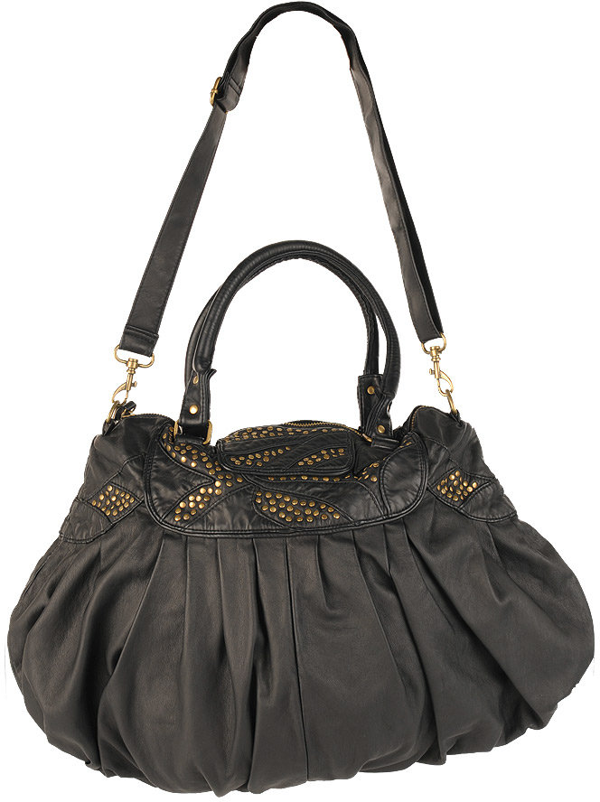Forever 21 Stud Pleated Hobo Bag