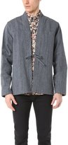 Naked & Famous Denim Men's Hank Dyed Speckle Twill Kimono Shirt