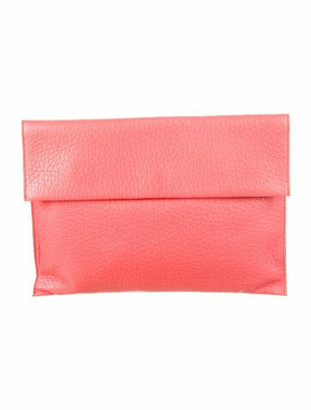 Marni Leather Flap Clutch Pink