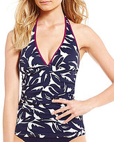 Tommy Bahama Graphic Jungle Tummy Control Halterkini