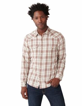 Lucky Brand Men's Long Sleeve Button Up Mateo Twill Santa Fe Western Shirt