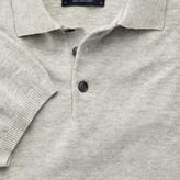 Charles Tyrwhitt Silver heather short sleeve polo collar jumper