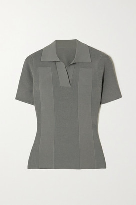 Jacquemus Open-back Tie-detailed Ribbed-knit Top - Green