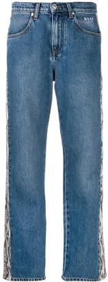 MSGM python effect striped jeans